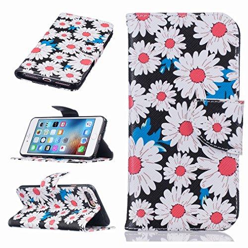 Custodia Apple iPhone 7 Pro Cover Case, Ougger Portafoglio PU Pelle Magnetico Stand Morbido Silicone Flip Bumper Protettivo Gomma Shell Borsa Custodie con Slot per Schede, Design 2
