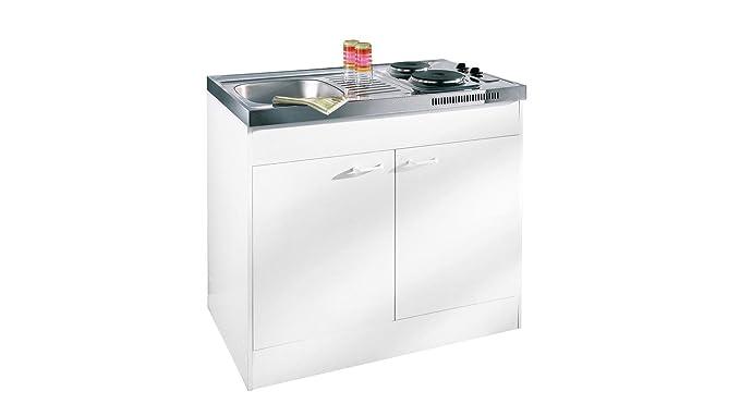 Respekta miniküche single pantry küche küchenblock 100 cm weiss ohne kühlschrank pantry ok amazon de küche haushalt