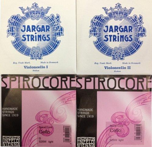 チェロ弦セット & セシリアムジカセレクション JARGAR & B00B62XWJ2 SPIROCOREクローム巻(Weich) B00B62XWJ2, インクマスターの一本堂:0d8f6372 --- zonespirits.xyz