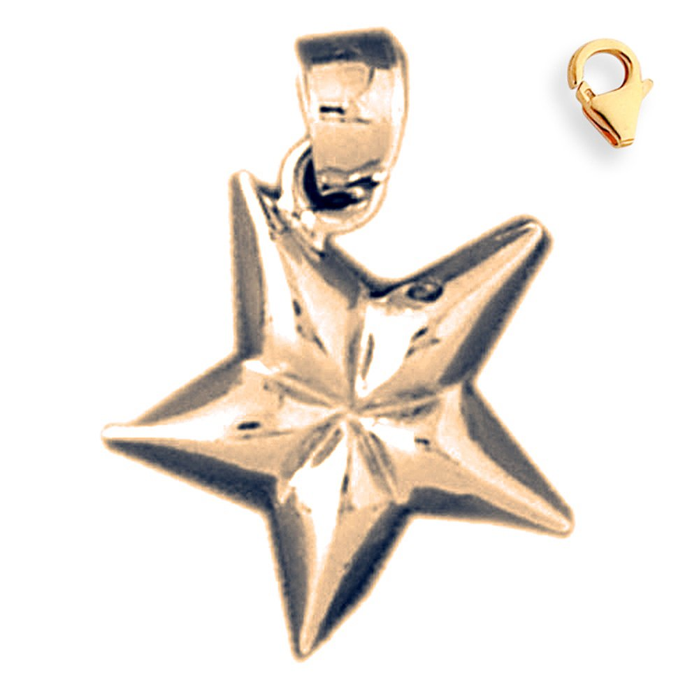 22mm Silver Yellow Plated Star Charm