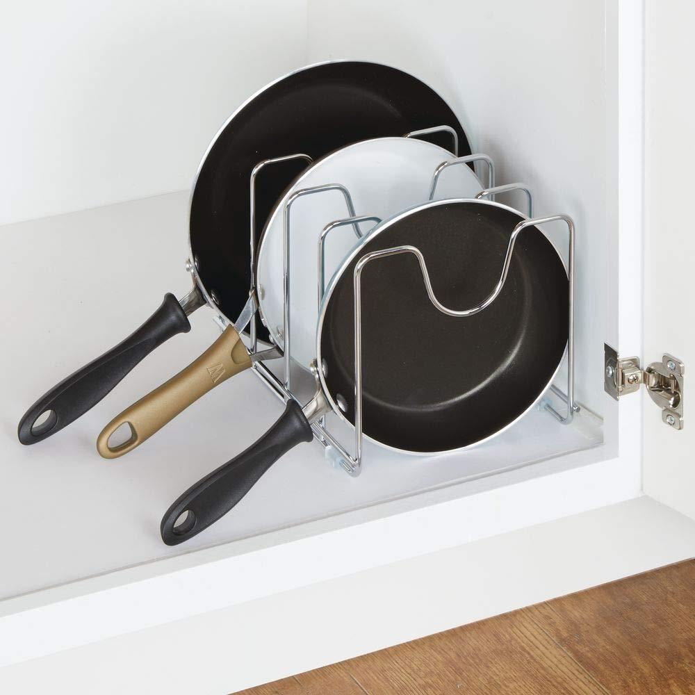 Soporte para ollas y Tapas de Acero para Ahorrar Espacio en la Cocina UPKOCH