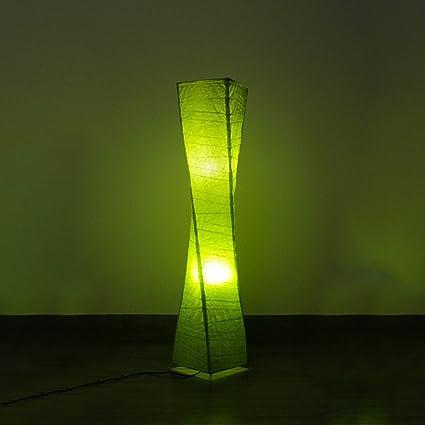 HUACANG Lámpara de pie de Papel de crepé de Twister, lámpara ...