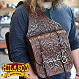 HILASON WESTERN LEATHER SADDLE SHOULDER BAG