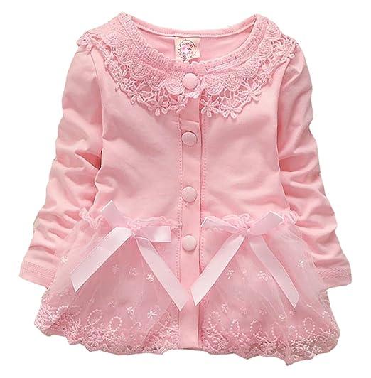 d8f613cda Amazon.com  Infant Baby Girls Spring Autumn Winter Baby Coat Jackets ...