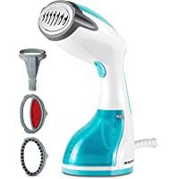 BEAUTURAL 1200-Watt Handheld Steamer for Clothes, 30 Second Heat-up, 8.79-Ounce Water Tank, Aqua