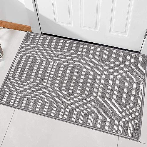 Indoor Doormat,Front Back Door Mat Rubber Backing Non Slip Door Mats Absorbent Resist Dirt Entrance Doormat Inside Floor Mats Area Rug for Entryway Machine Washable Low-Profile