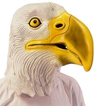NET TOYS Máscara águila Antifaz aguileño Careta aquilino Mascarilla buitre Cubre rostro carnaval animal heráldico Máscara