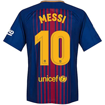 83a0ca397 Amazon.com   Nike Barcelona Home Messi Jersey 2017 2018 (Official ...