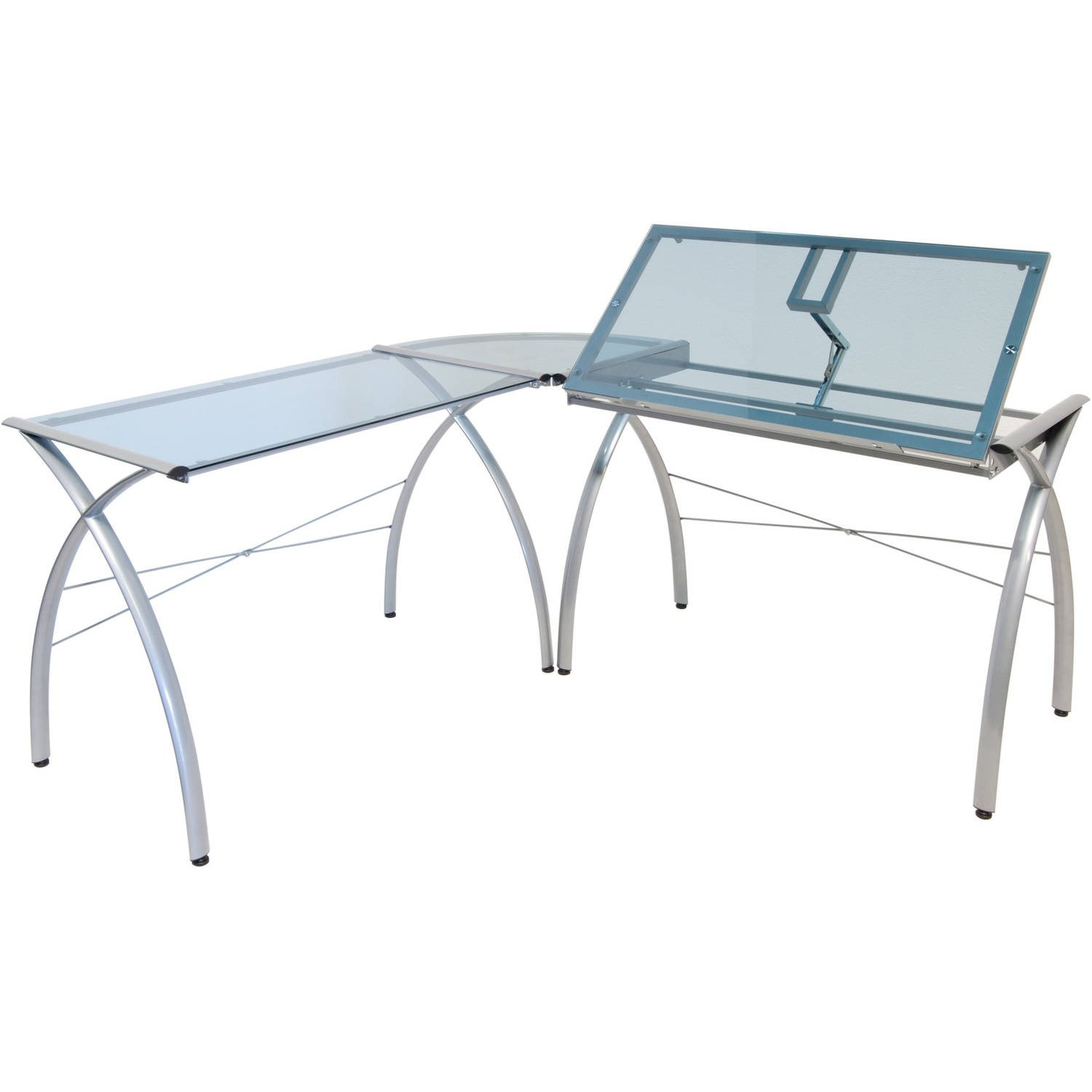 Corner Desk Drafting Table, L Shaped, Workstation, Adjustable Split Top, Functional, Suitable for Home Office, Art Student, Work and Craft Furniture + Expert Guide by Care 4 Home LLC (Image #2)