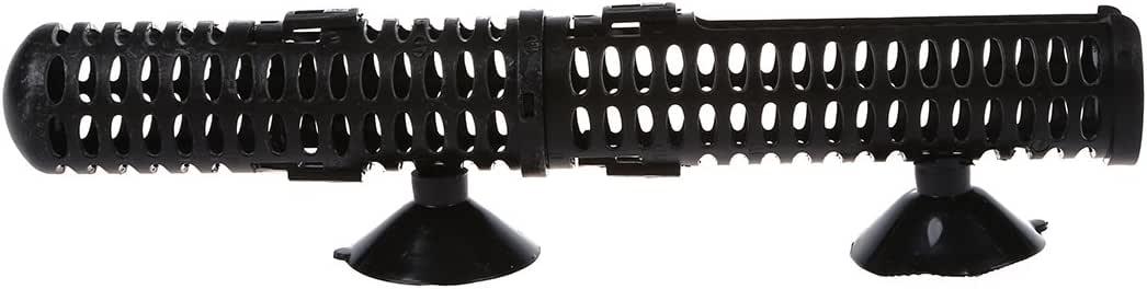 SODIAL (R) acuario Calentador protector w / Ventosa - Negro ...