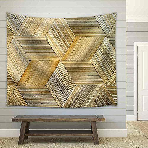 Close Up of Bamboo Texture Fabric Wall Tapestry