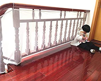 6.56Ft Child Safety Rail Net For Indoor U0026 Outdoor Usage Banister Stair Net U2013