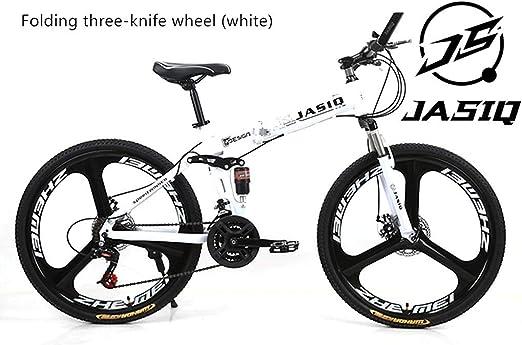 A&ZMYOU Bicicleta de montaña Plegable Bicicleta de montaña ...