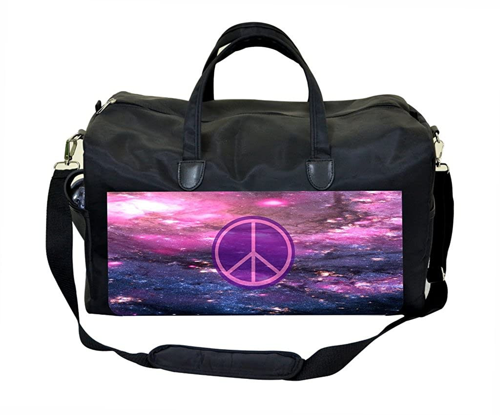 Purple Galaxy Peace Weekender Bag