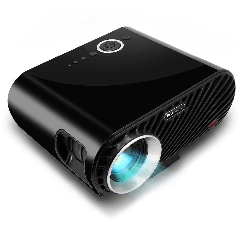 Pyle Portable Multimedia Home Theater Projector - HD 1080p LED with USB HDMI Digital Data System Projection