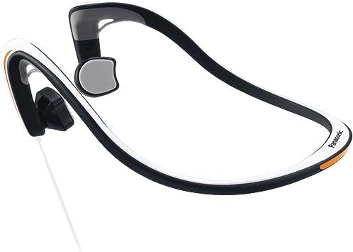 Panasonic RP-HGS10-W Open-Ear Bone Conduction Headphones with Reflective Design