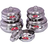 Aristo Stainless Steel Container(250-1000ml, Silver) - Pack of 5