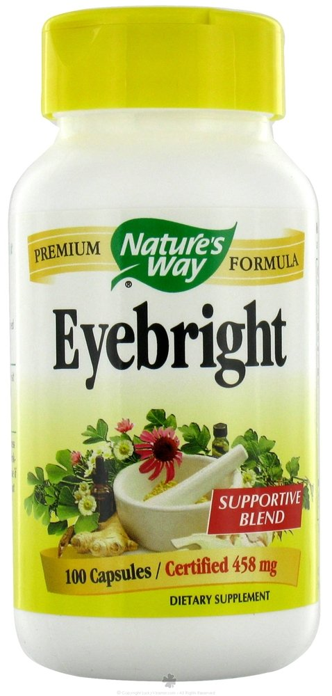 Natures Way Eyebright Capsule, 458 Mg - 100 per pack - 3 packs per case.