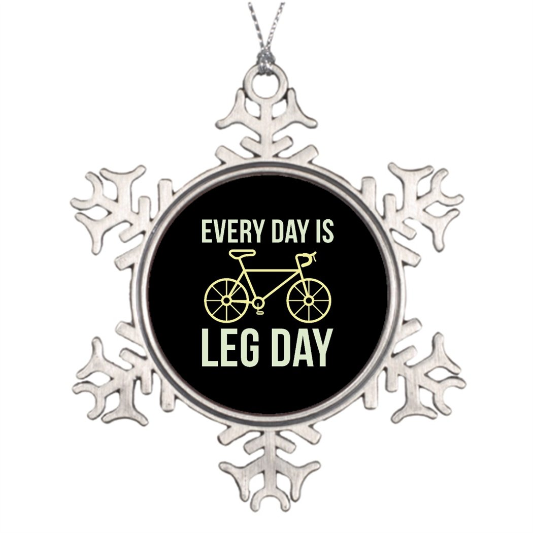 Moc Moc Tree Branch Decoration Every Day Is Leg Day Steel Snowflake Ornaments Unusual Christmas Tree Decorations