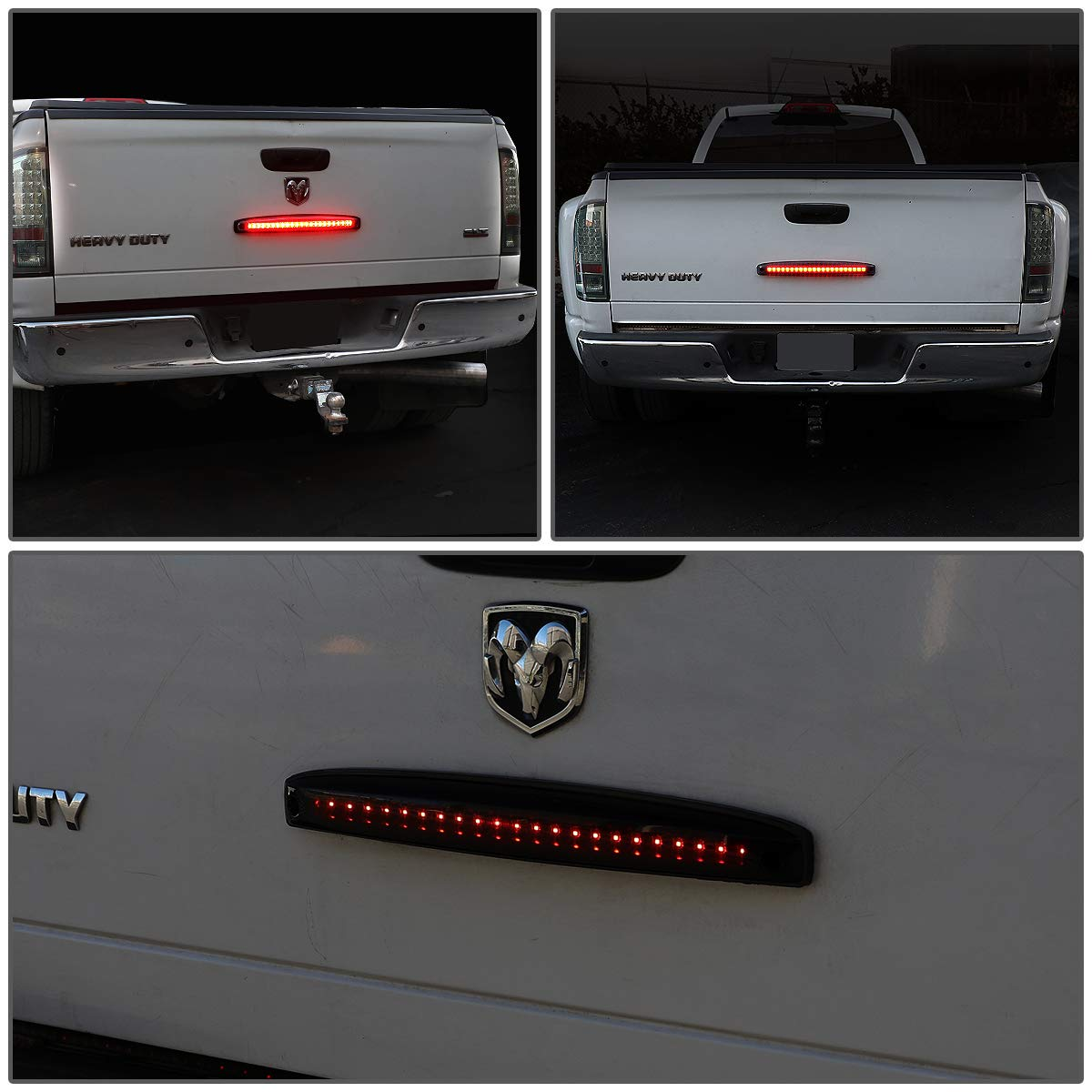 DNA Motoring TGL-DRAM03-LED-BK-SM-L Sequential Chasing LED Tail Gate Third 3rd Brake Light Lamp Bar