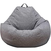 Beanbag Cover Recliner Gaming Storage Bag Lazy Lounger Bean Bag Without Bean Filling Easy Cleaning Bean Bag Insert…