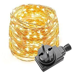 Lighting EVER LE 10M 100 LEDs Kupferdraht LED Kupfer Lichterkette ...