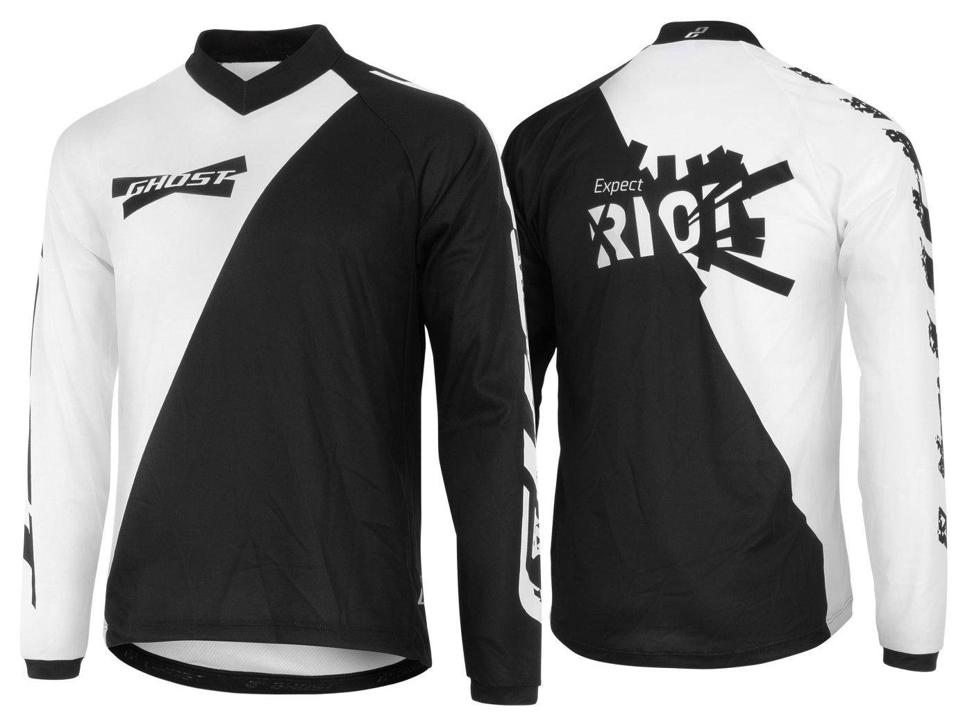 GHOST Jersey All Mountain long man Langarmtrikot schwarz Weiß Modell 2015