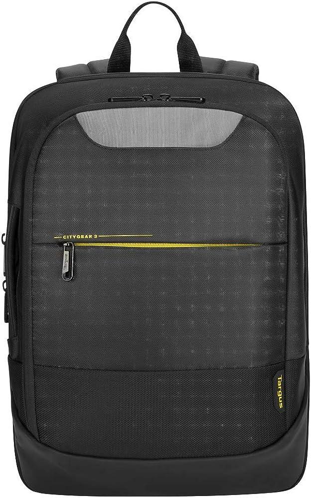 旅行と通勤用に設計されたドーム保護付きのTargus CityGear耐久性のあるバックパック、最大14-15.6インチのラップトップ、ブラック(TCG660GL)