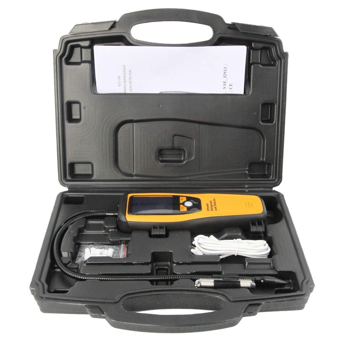 Elitech ILD-100 Detector de Fugas de Refrigerante Avanzado Halógeno Probador de Fugas Recargable de Infrarrojos de Alta Sensibilidad, 10 años de vida ✩3 ...