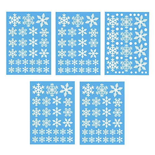- SUNBOOM Christmas Decorations Snowflake Window Clings Snowflakes Stickers Windows Decals for Kids [100+ Pcs] White Snowflake Ornaments Winter Snow Holiday Decal (4 Sheet)