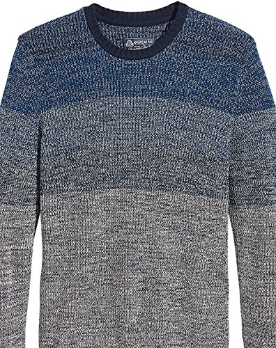 AMERICAN RAG CIE Mens Large Ombre Crewneck Sweater Blue L from AMERICAN RAG CIE