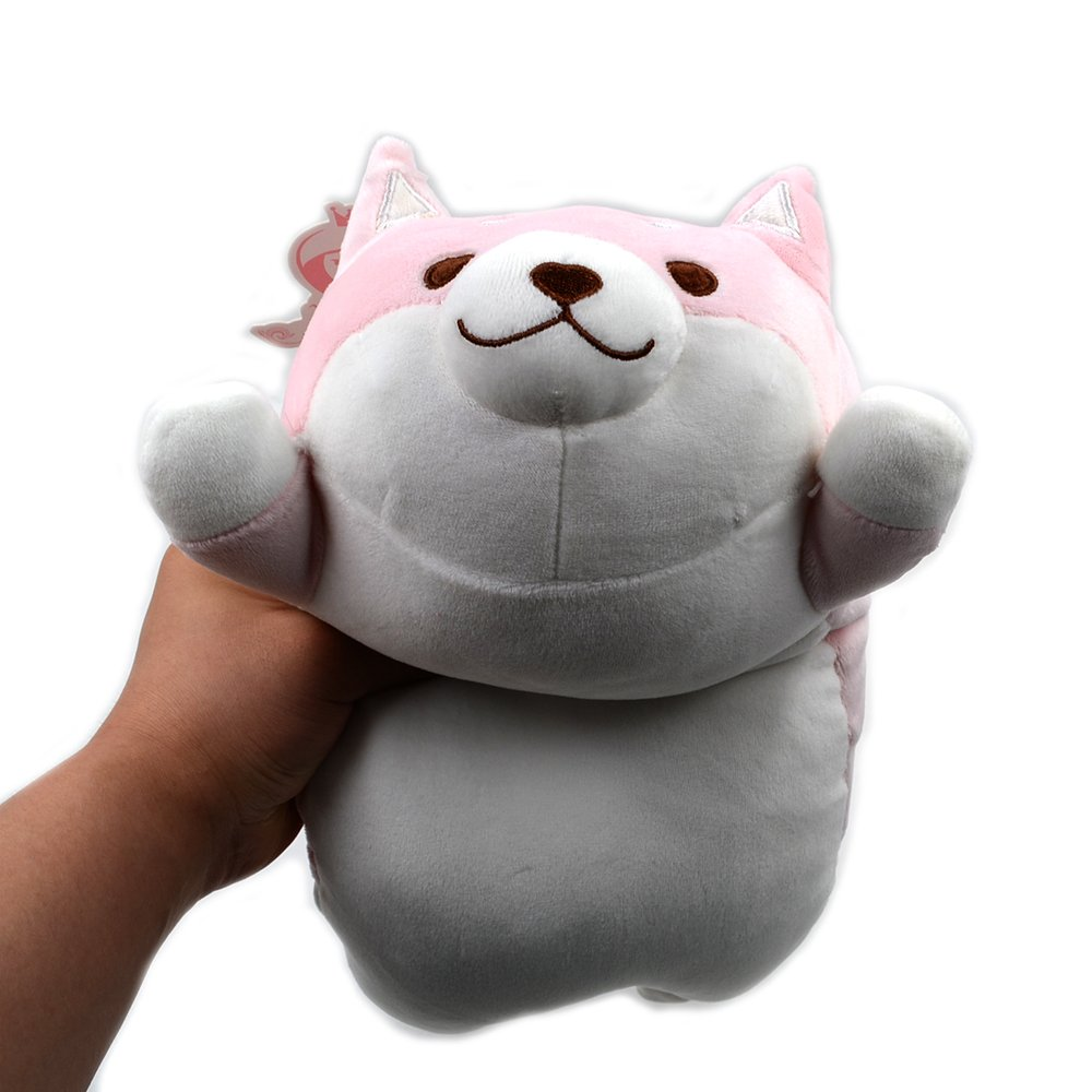Amazon.com: Millffy New Cute Shiba Inu Plush Stuffed Toys Super Soft Chai  Dog Plush Pillow Dog Ass Pillow Children's Toys (Pink Round Eyes, 35cm  13.7inch): ...