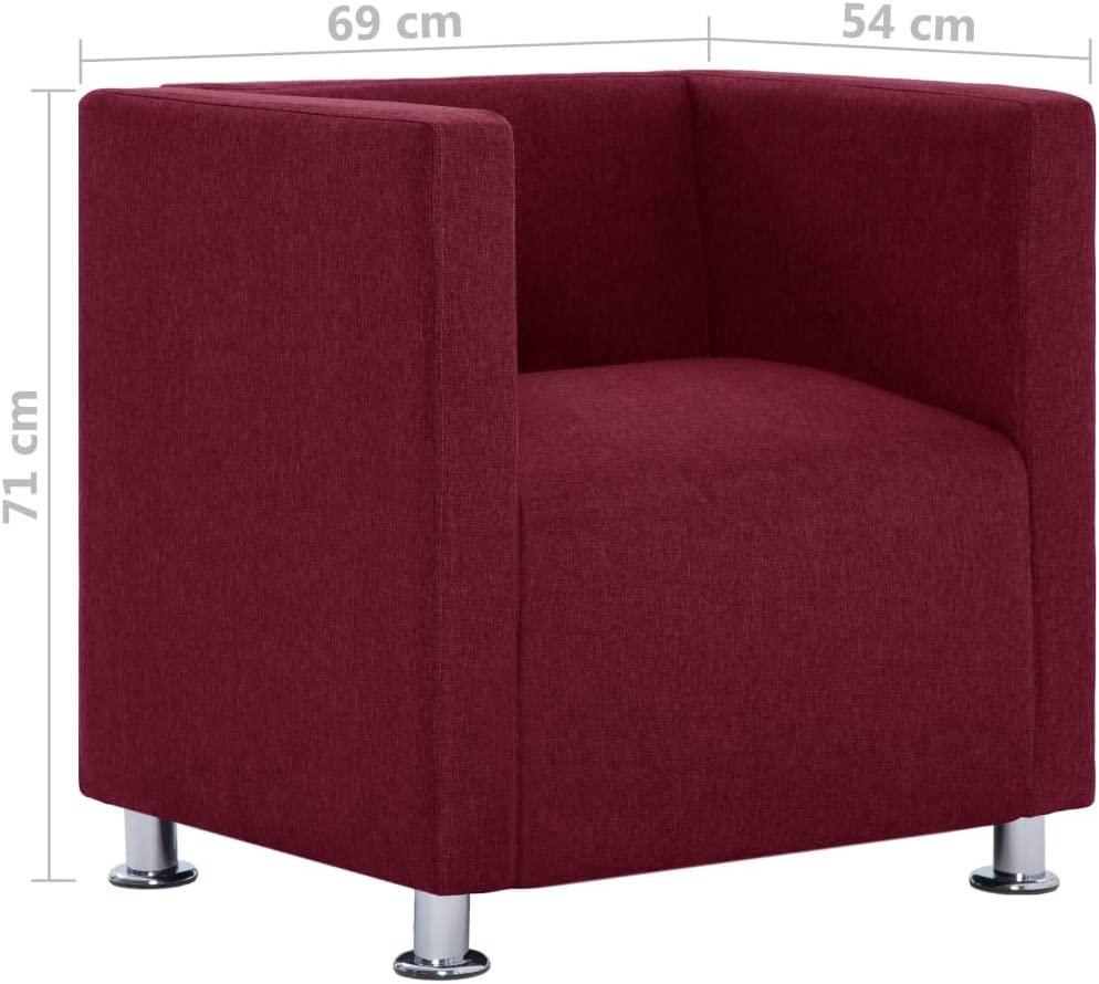 vidaXL Fauteuil Cube Chaise de Salon Meuble Siège de Salon