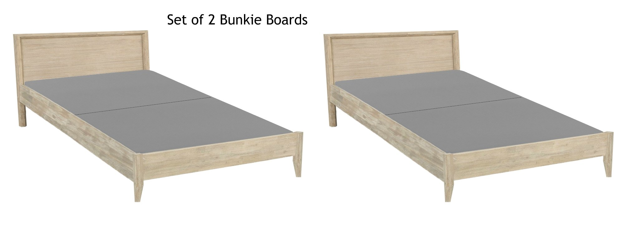 Continental Sleep, Fully Assembled Split 2'' Foundation Bunkie Board, Set of 2 |Twin Size| (4 halves Included)