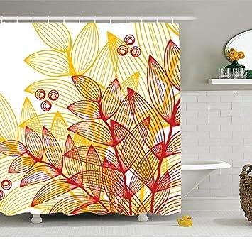 Devin Edie Buck Shower Curtain With Hooks DIY Customized Waterproof Antibacterial Bath Fabric Fashion Gorgeous Flower
