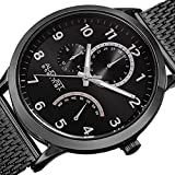 August-Steiner-Mens-Quartz-Stainless-Steel-Casual-Watch-ColorBlack-Model-AS8230BK