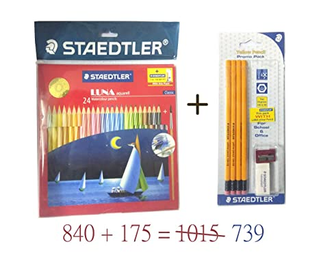 Watercolour Aquarelle Drawing Blendable Sketching Home 12 Water Colour Pencils