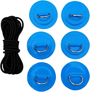 Schwarz Aufstehen Paddleboard Sup Bungee Deck Rigging Kit 6 D-Ring Pad Patch