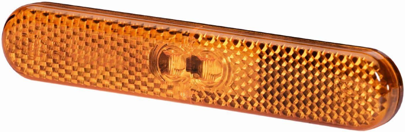 Lichtscheibenfarbe: gelb Kabel: 195mm LED HELLA 2PS 009 226-011 Seitenmarkierungsleuchte Stecker: AMP 24V
