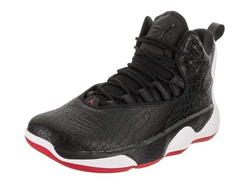timeless design ec25e 4c9be Jordan Zapatillas Nike Super.Fly MVP L de Baloncesto de Estados Unidos 14  Hombre Negro Negro Blanco   14 D (M) US  Amazon.es  Zapatos y complementos