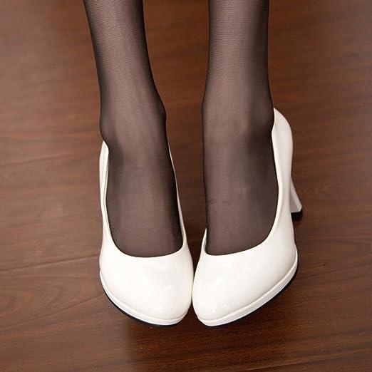 Zapatos De TacóN para Mujer,ZARLLE Moda Spring Casual Oficina De Punta Redonda Gruesa Boca Superficial De Las Mujeres Zapatos De Tacon Alto Zapatos De Baile ...