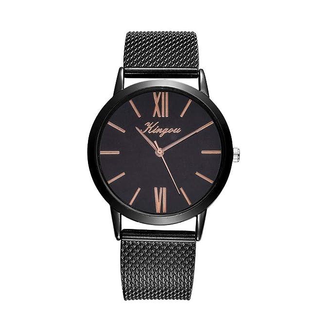 Darringls_Reloj Kingou,Relojes Mujer Moda Reloj de Pulsera Redondo de Cuarzo Inoxidable Relojes Mujer analógico de Moda para Mujer de Acero: Amazon.es: Ropa ...