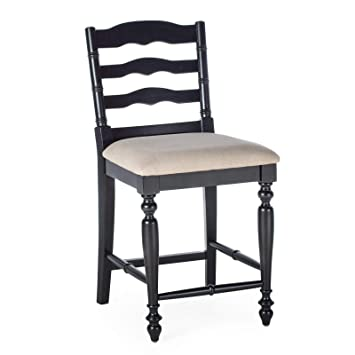 Cool Amazon Com Home Collection Classic Black Finish Wood Ladder Ncnpc Chair Design For Home Ncnpcorg