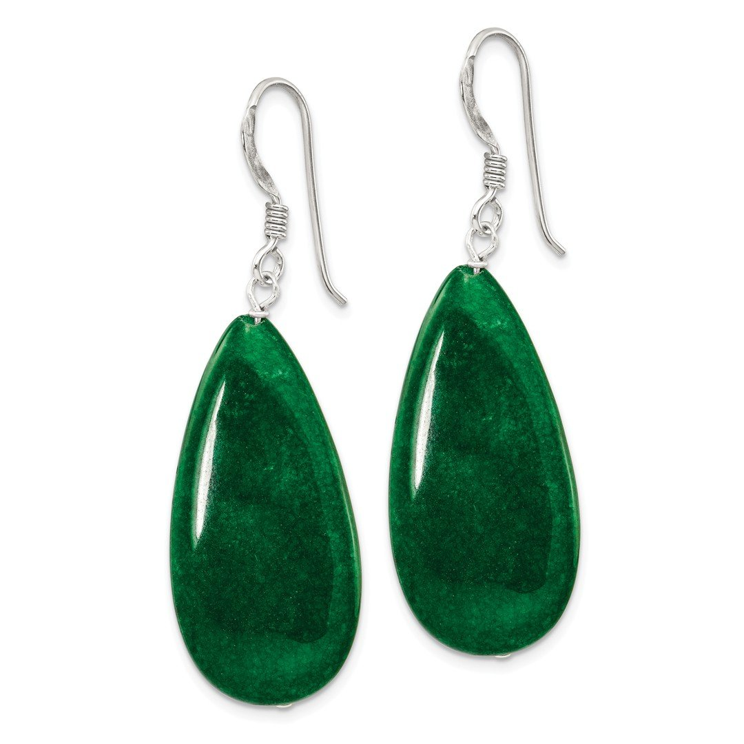 ICE CARATS 925 Sterling Silver Dark Green Jade Drop Dangle Chandelier Earrings Fine Jewelry Ideal Gifts For Women Gift Set From Heart by ICE CARATS (Image #3)