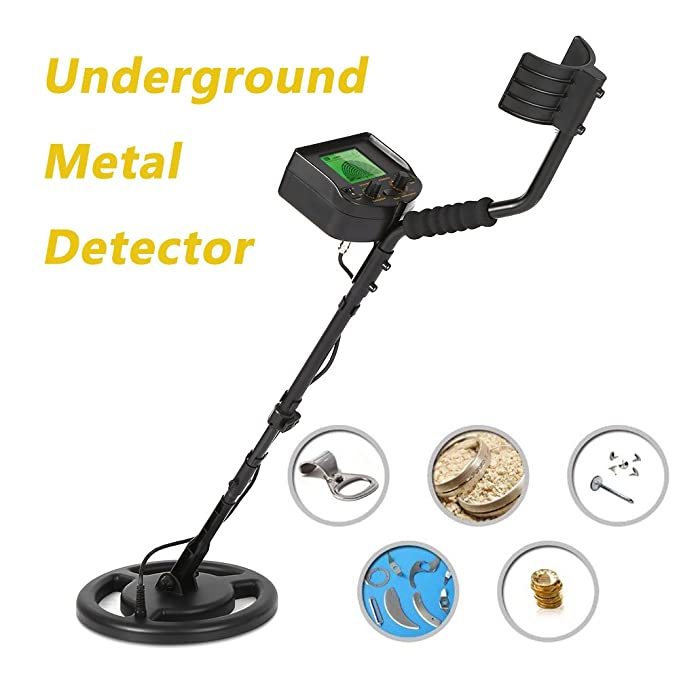 Amazon.com: Metal Detector 100-240V, KKmoon Underground Gold Digger Treasure Hunter Scanner Scanning Tool LCD Display with Earphone Buzzer: Home Improvement