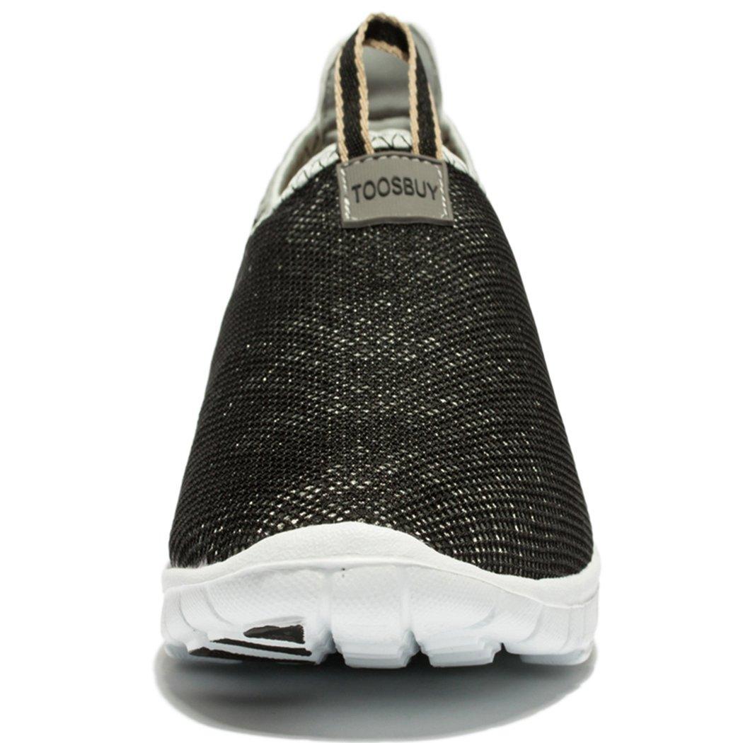 KENSBUY Men & Women Breathable Mesh Running Sport Tennis Outdoor Shoes,Beach Aqua,Athletic,Exercise,Slip Wave EU41 Grey by KENSBUY (Image #2)