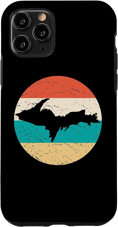 iPhone 11 Pro U.P. Yooper Retro Vintage Circle Upper Peninsula Of Michigan Case