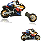 WooTeck 32GB 3D Cartoon Motorcycle USB Flash Drive Memory Stick Pendrive