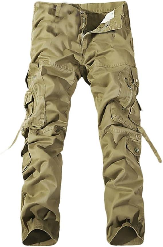 Pantalones Hombre Largo Casual Deporte Outdoor Pantalon Cargo ...