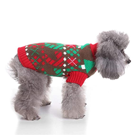 TUOTANG Suéter de Perro Suéter de Navidad para Mascotas Ropa ...